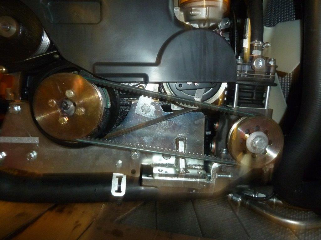 Compressore con Trascinamento a Cinghia per Telescopico JCB