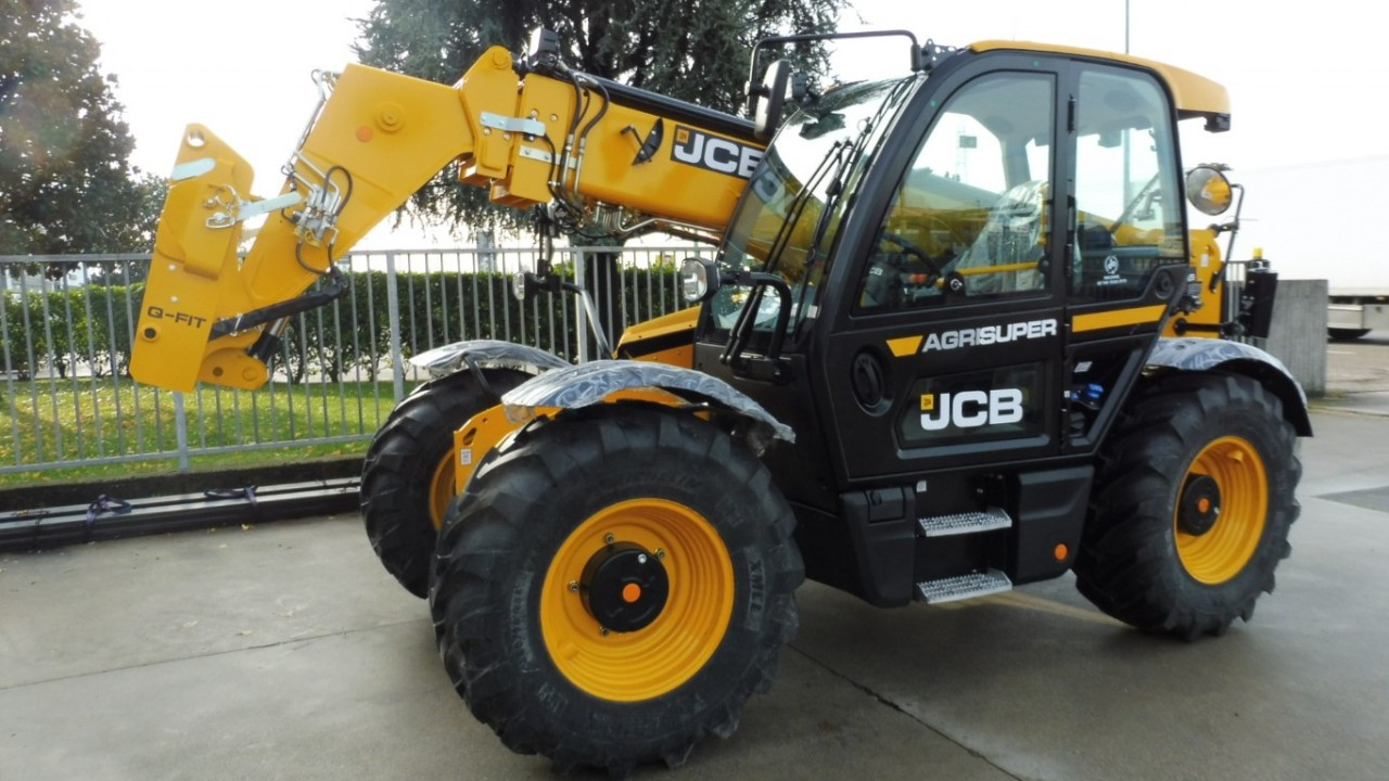 Impianto di Frenatura Pneumatico Mother Regulation installato su movimentatore JCB 536-95 AGRISUPER con braccio telescopico