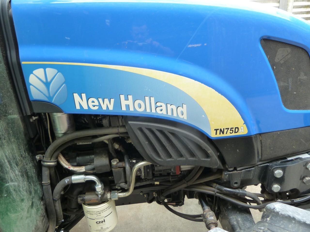 Impianto di frenatura idraulico monolinea tipo CUNA su trattore NEW HOLLAND TN 75 DA DT CAB